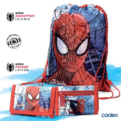 zainetto sacca portafogli spiderman