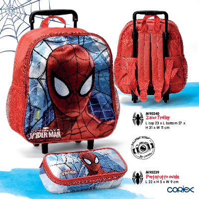zaino trolley spider man astuccio