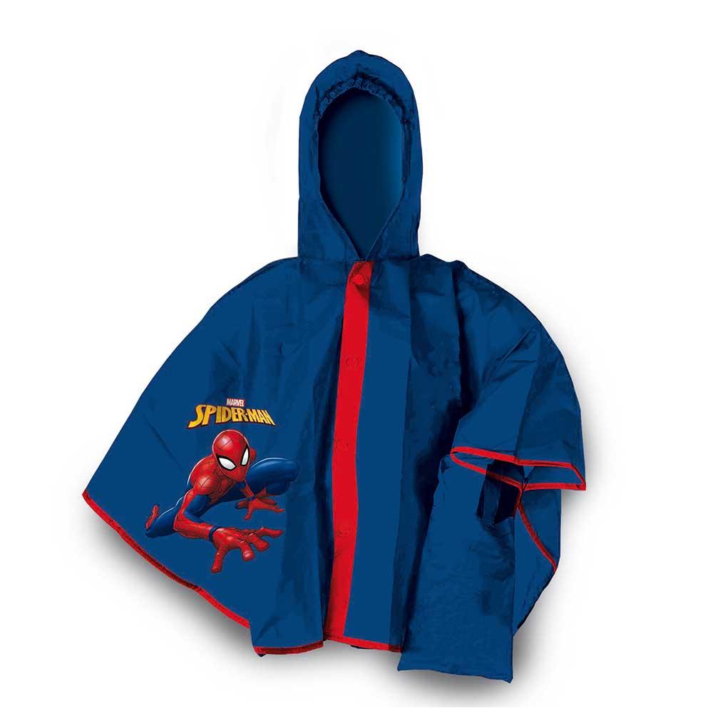 mantella pioggia poncho spiderman