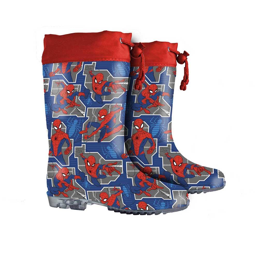 stivali pioggia spiderman